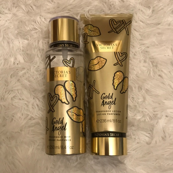 "9f1899b96be1f Victoria's Secret ""Gold Angel"" Mist and Lotion NWT"